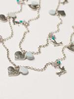 Heart & Bird Cluster Necklace