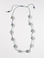Stationed Glass Bead Necklace