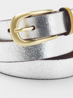 Skinny Metallic Pop Col Belt