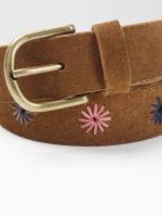 Suede Emb Floral Belt