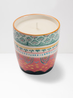 Pink Scallop Decorative Candle