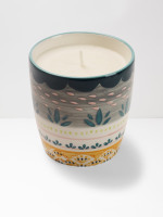 Grey Scallop Decorative Candle