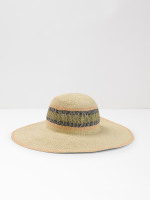 Multi Stripe Wide Brim Hat