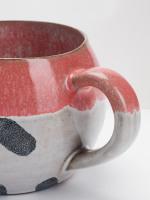 Pink Dash Terracootta Mug
