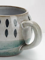 Teal Square Terracotta Mug