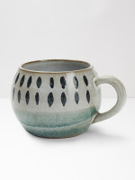 Teal Square Terracotta Mug
