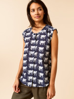 Jungle Print Shirt Vest