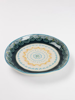 Grey Scallop Decorative Plate