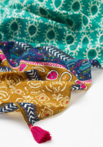 Tropics Patchwork Cotton Scarf