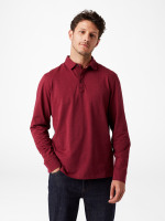 Wimborne Slub Long Sleeve Polo