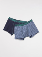 Dog Print Plain Boxer Pack