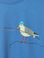 Seagull Fishing Graphic Tee
