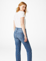 Fiesta Leaf Embroidered Boyfriend Jean