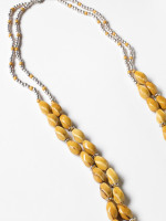 Layered Ceramic Twist Necklace