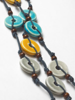Kahlo Ceramic Disc Necklace