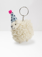 Party Hat Sheep Keyring