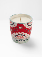 Red Doily Candle
