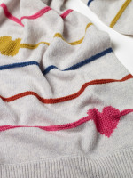 Heart & Stripe Scarf