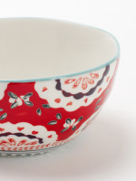Red Doily Decorative Bowl