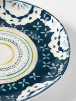 Teal Doily Decorative Plate