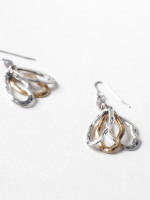 Oval Cluster Drop Earring