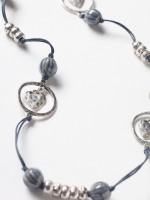 Cord & Heart Metal Necklace