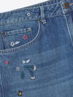 Embroidered Boyfriend Jean