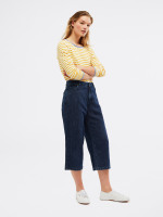 Belle Denim Crop Wide Leg Jean