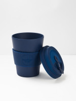 Navy Plain 12oz ECoffee Cup