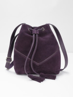 Tawny Suede Bucket Bag