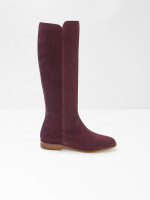 Hailey Long Suede Flat Boots