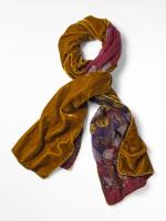 Whimsical Wool Velvet Scarf