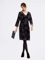 Luma Devore Velvet Dress