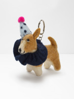 Party Pooch Corgi Keyring