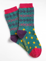 Pop Fairisle Boot Sock