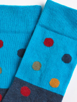 Colourblock Spots Sock
