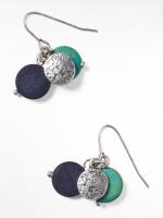 Mono Bead & Disc Drop Earring
