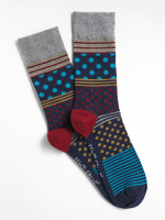 Peter Patchwork Spot Sock