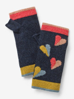 Paper Hearts Fingerless Gloves