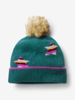 Cashmere Star Pom Hat
