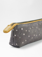 Suede Star Brush Pencil Case