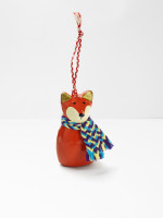 Long Frosty Fox Hanging Decoration