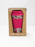 Plum Flourette Eco Coffee Mug