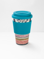 Teal Doily Eco Coffee Mug