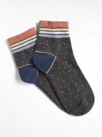 Sparkle Stripe Ankle Sock