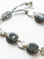 Tara Cord & Ceramic Bracelet