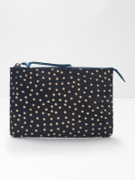 Leather Spot Suede Pouch