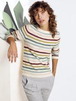 Artisan Stripe Button Jumper