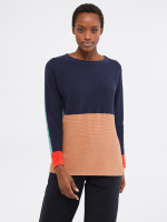 Avenue Organic Cotton Colourblock Jumper