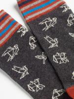 Origami Birds Sock
